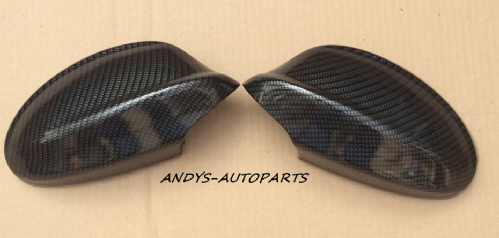 BMW 3 SERIES E90/91 05 - 08 WING MIRROR COVER L/H & R/H IN CARBON FIBRE EFFECT (1)